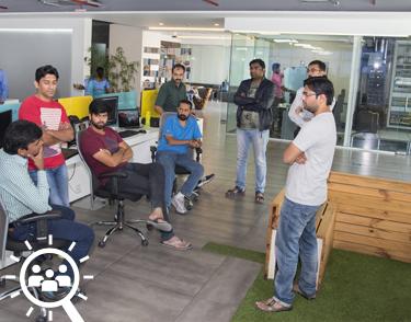 Open workspaces encouraging team work